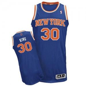 Maillot NBA Bleu royal Bernard King #30 New York Knicks Road Authentic Homme Adidas