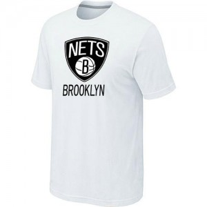 Tee-Shirt NBA Blanc Brooklyn Nets Big & Tall Homme