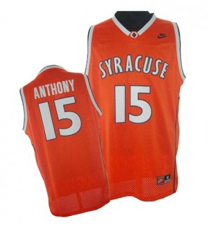 Maillot Adidas Orange Syracuse College Swingman New York Knicks - Carmelo Anthony #15 - Homme