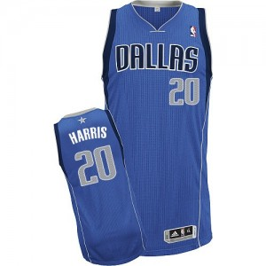 Maillot Authentic Dallas Mavericks NBA Road Bleu royal - #20 Devin Harris - Homme