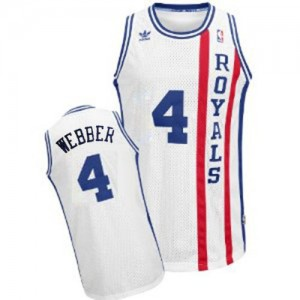 Sacramento Kings Chris Webber #4 Throwback Swingman Maillot d'équipe de NBA - Blanc pour Homme