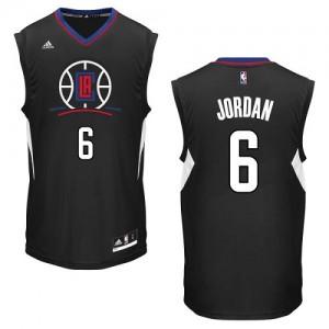 Maillot NBA Noir DeAndre Jordan #6 Los Angeles Clippers Alternate Swingman Homme Adidas