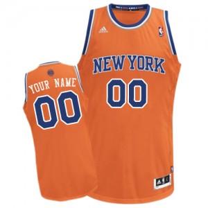New York Knicks Personnalisé Adidas Alternate Orange Maillot d'équipe de NBA Le meilleur cadeau - Swingman pour Homme