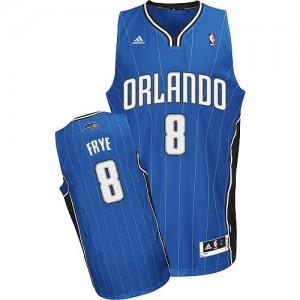 Maillot NBA Orlando Magic #8 Channing Frye Bleu royal Adidas Swingman Road - Homme