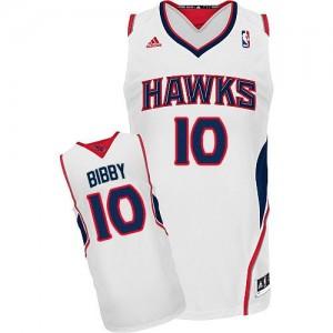 Atlanta Hawks #10 Adidas Home Blanc Swingman Maillot d'équipe de NBA Soldes discount - Mike Bibby pour Homme