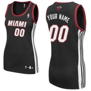 Maillot NBA Miami Heat Personnalisé Authentic Noir Adidas Road - Femme