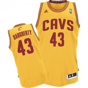 Maillot NBA Or Brad Daugherty #43 Cleveland Cavaliers Alternate Authentic Homme Adidas
