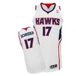 Atlanta Hawks Dennis Schroder #17 Home Authentic Maillot d'équipe de NBA - Blanc pour Homme