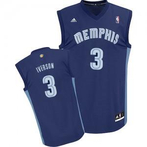 Maillot NBA Swingman Allen Iverson #3 Memphis Grizzlies Road Bleu marin - Homme