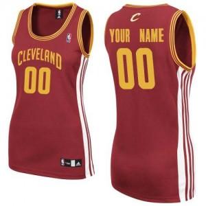 Cleveland Cavaliers Authentic Personnalisé Road Maillot d'équipe de NBA - Vin Rouge pour Femme