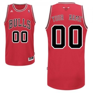 Maillot Adidas Rouge Road Chicago Bulls - Swingman Personnalisé - Homme
