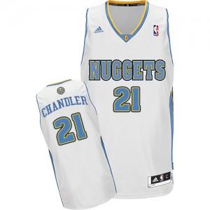 Denver Nuggets #21 Adidas Home Blanc Swingman Maillot d'équipe de NBA en vente en ligne - Wilson Chandler pour Homme