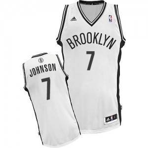 Maillot Adidas Blanc Home Swingman Brooklyn Nets - Joe Johnson #7 - Homme
