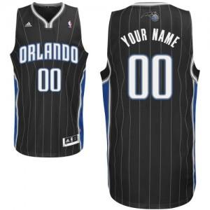 Maillot Adidas Noir Alternate Orlando Magic - Swingman Personnalisé - Homme