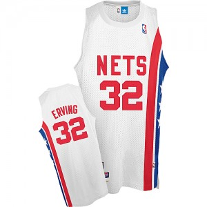 Maillot NBA Blanc Julius Erving #32 Brooklyn Nets Throwback ABA Retro Authentic Homme Adidas