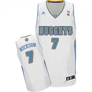 Denver Nuggets JJ Hickson #7 Home Swingman Maillot d'équipe de NBA - Blanc pour Homme