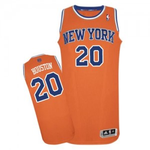 Maillot Authentic New York Knicks NBA Alternate Orange - #20 Allan Houston - Homme