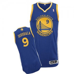 Maillot NBA Authentic Andre Iguodala #9 Golden State Warriors Road Bleu royal - Homme