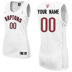 Toronto Raptors Personnalisé Adidas Home Blanc Maillot d'équipe de NBA Promotions - Authentic pour Femme