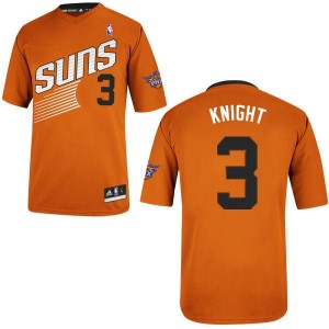 Maillot NBA Orange Brandon Knight #3 Phoenix Suns Alternate Swingman Homme Adidas