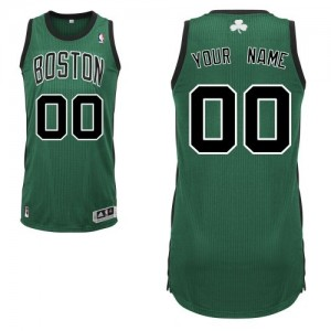 Maillot Boston Celtics NBA Alternate Vert (No. noir) - Personnalisé Authentic - Homme