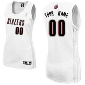 Portland Trail Blazers Authentic Personnalisé Home Maillot d'équipe de NBA - Blanc pour Femme
