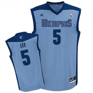 Maillot Adidas Bleu clair Alternate Swingman Memphis Grizzlies - Courtney Lee #5 - Homme