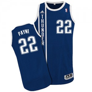 Oklahoma City Thunder Cameron Payne #22 Alternate Authentic Maillot d'équipe de NBA - Bleu marin pour Homme