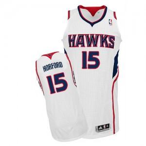 Maillot Adidas Blanc Home Authentic Atlanta Hawks - Al Horford #15 - Homme