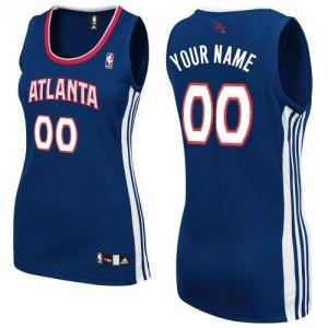Atlanta Hawks Personnalisé Adidas Road Bleu marin Maillot d'équipe de NBA préférentiel - Authentic pour Femme