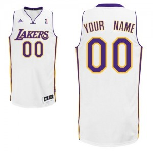 Maillot NBA Los Angeles Lakers Personnalisé Swingman Blanc Adidas Alternate - Homme