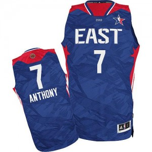 New York Knicks Carmelo Anthony #7 2013 All Star Authentic Maillot d'équipe de NBA - Bleu pour Homme