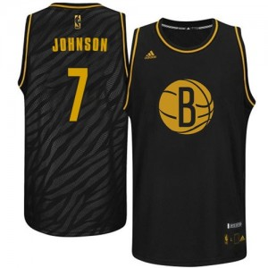 Maillot NBA Noir Joe Johnson #7 Brooklyn Nets Precious Metals Fashion Swingman Homme Adidas