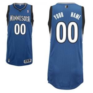 Minnesota Timberwolves Personnalisé Adidas Road Slate Blue Maillot d'équipe de NBA magasin d'usine - Authentic pour Homme