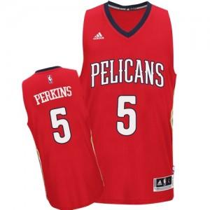 New Orleans Pelicans #5 Adidas Alternate Rouge Swingman Maillot d'équipe de NBA Le meilleur cadeau - Kendrick Perkins pour Homme