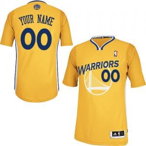 Golden State Warriors Authentic Personnalisé Alternate Maillot d'équipe de NBA - Or pour Femme