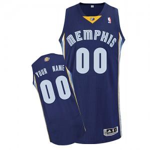 Memphis Grizzlies Personnalisé Adidas Road Bleu marin Maillot d'équipe de NBA Expédition rapide - Authentic pour Homme