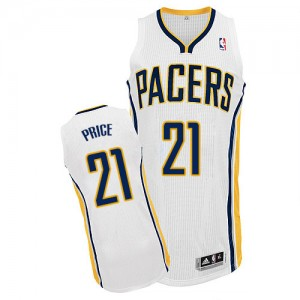 Maillot NBA Indiana Pacers #21 A.J. Price Blanc Adidas Authentic Home - Homme