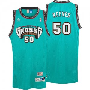 Maillot Authentic Memphis Grizzlies NBA Hardwood Classics Throwback Vert - #50 Bryant Reeves - Homme