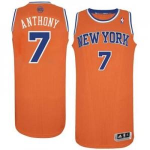 Maillot Authentic New York Knicks NBA Alternate Orange - #7 Carmelo Anthony - Homme