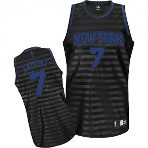 Maillot NBA Gris noir Carmelo Anthony #7 New York Knicks Groove Authentic Homme Adidas