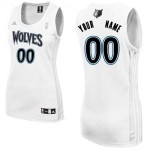 Minnesota Timberwolves Personnalisé Adidas Home Blanc Maillot d'équipe de NBA magasin d'usine - Swingman pour Femme