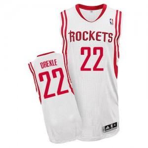 Houston Rockets #22 Adidas Home Blanc Authentic Maillot d'équipe de NBA Vente pas cher - Clyde Drexler pour Homme