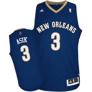 New Orleans Pelicans #3 Adidas Road Bleu marin Authentic Maillot d'équipe de NBA Soldes discount - Omer Asik pour Homme