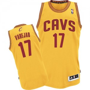 Maillot NBA Cleveland Cavaliers #17 Anderson Varejao Or Adidas Authentic Alternate - Homme
