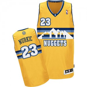 Maillot Adidas Or Alternate Authentic Denver Nuggets - Jusuf Nurkic #23 - Homme