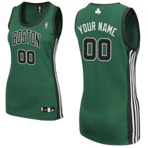 Maillot Adidas Vert (No. noir) Alternate Boston Celtics - Authentic Personnalisé - Femme