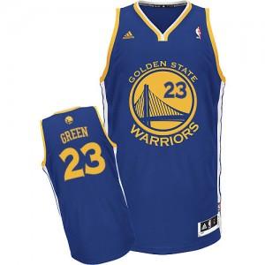 Maillot NBA Golden State Warriors #23 Draymond Green Bleu royal Adidas Swingman Road - Homme
