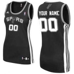 Maillot NBA Swingman Personnalisé San Antonio Spurs Road Noir - Femme