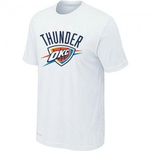 Tee-Shirt NBA Blanc Oklahoma City Thunder Big & Tall Homme